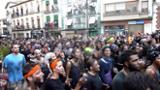 Cascamorreros llegando a la Plaza Mayor