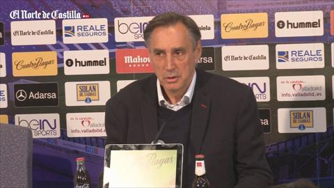 Miguel Ángel Portugal se despide del Real Valladolid